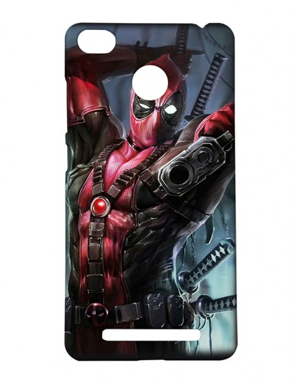 The Deadpool Fighting - Xiaomi Redmi 3s Prime Printed Hard Back Cover.