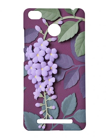 The Lavender Flowers - Xiaomi Redmi 3s Prime Printed Hard Back Cover.
