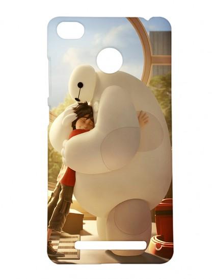Hiro Hamada Huged By Baymax - Xiaomi Redmi 3s Prime Printed Hard Back Cover.