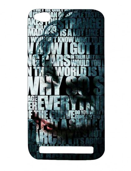 The Joker Typography - Redmi 5A Printed Hard Back Cover.