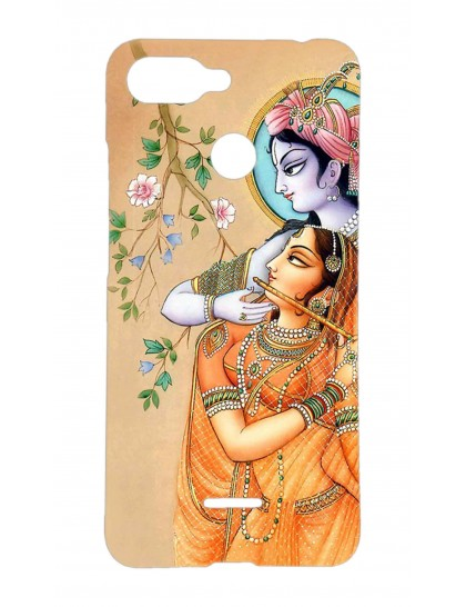 Lord Krishna & Radha - Redmi 6 Printed Hard Back Cover.