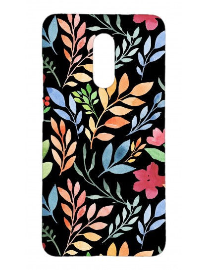 Branches With Colorful Leaves Pattern - Redmi 6 Pro Printed Hard Back Cover.