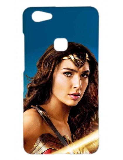 Wonder Woman - Vivo V7 Plus Printed Hard Back Cover.