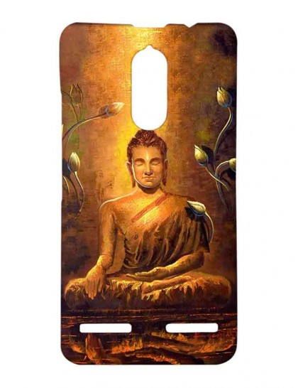 Lord Buddha - Lenovo K6 Power Printed Hard Back Cover.