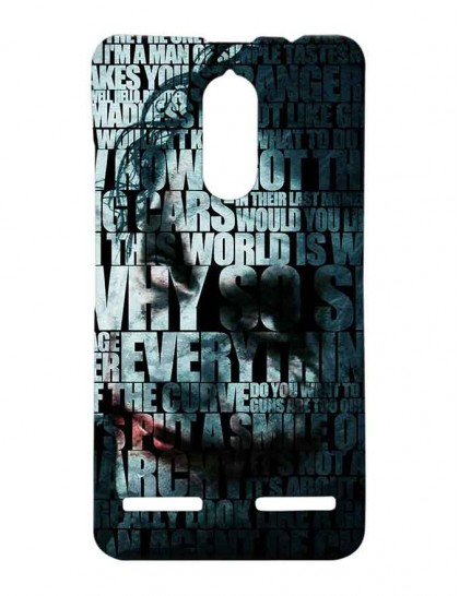 Joker Typography - Lenovo K6 Power Printed Hard Back Cover.