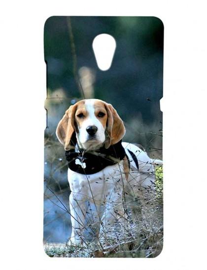 The Beagle Dog With Neck Belt - Lenovo P2 Printed Hard Back Cover.