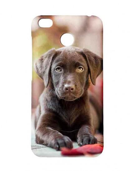 Black Labrador Retriever Puppy - Redmi 4 Printed Hard Back Cover.