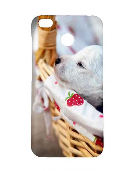 Labrador Puppy Sleeping In A Basket - Redmi 4 Printed Hard Back Cover.