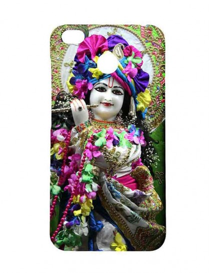 Lord Krishna With Flute - Redmi 4 Printed Hard Back Cover.