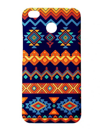Aztec Pattern - Redmi 4 Printed Hard Back Cover.