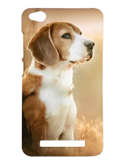 The Cute Beagle Dog - Redmi 4A Printed Hard Back Cover.