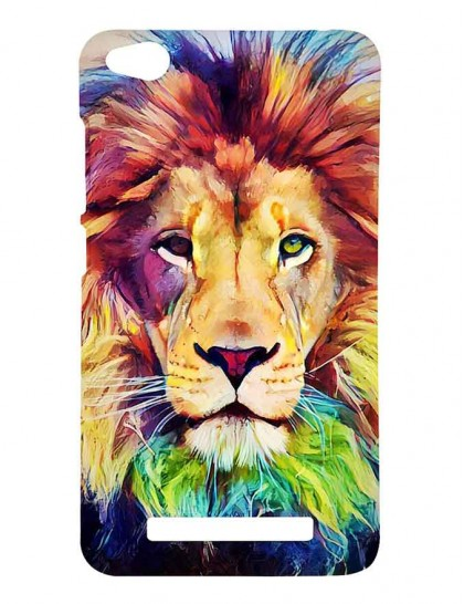 Colorful Lion Face - Redmi 4A Printed Hard Back Cover.