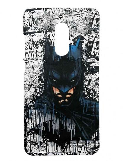 Batman Pattern - Redmi Note 4 Printed Hard Back Cover.