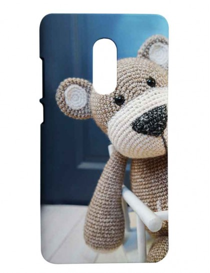 Teddy Bear Of Crochet Pattern Redmi Note 4 Printed Hard Back Cover