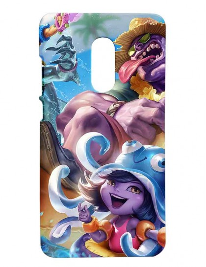 League Of Legends Pool Party Lulu - Redmi Note 4 Printed Hard Back Cover.