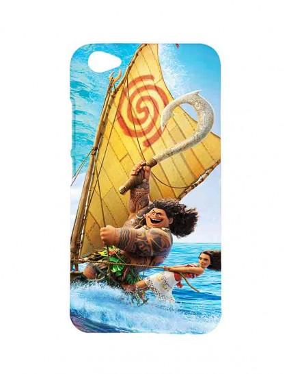 Moana & Maui In Boat - Vivo V5 Plus Printed Hard Back Cover.