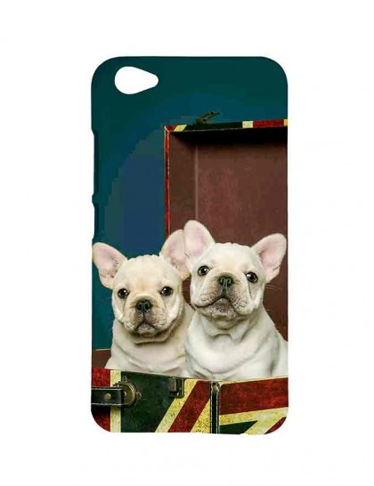 French Bulldog - Vivo V5 Plus Printed Hard Back Cover.