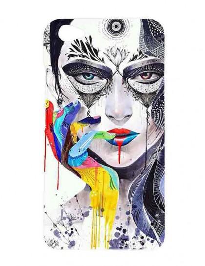 Women Artistic Illustration - Vivo V5 Plus Printed Hard Back Cover.