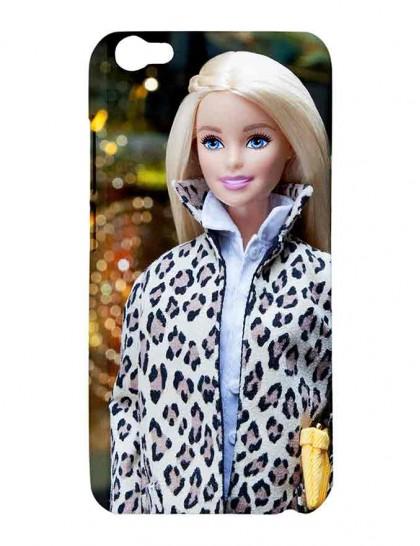Barbie In Leopard Jacket - Vivo V5 Printed Hard Back Cover.