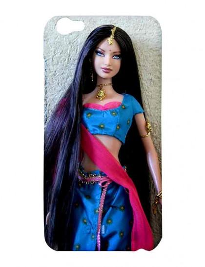 Barbie Doll In Saree - Vivo V5 Printed Hard Back Cover.