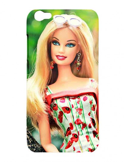 Barbie With Blue Eye Lens - Vivo V5 Printed Hard Back Cover.